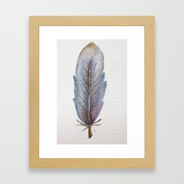 Blue Feather Framed Art Print