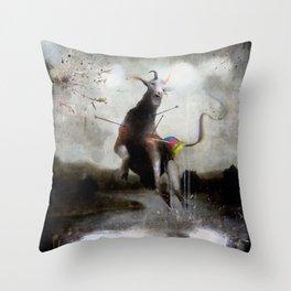 the golden fawn Throw Pillow