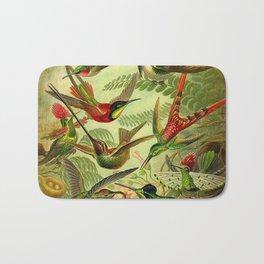 HUMMINGBIRD COLLAGE- Ernst Haeckel Bath Mat