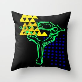 7th Cervical Vertebra 2 Throw Pillow
