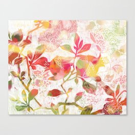 Pomegranate Flowers Canvas Print