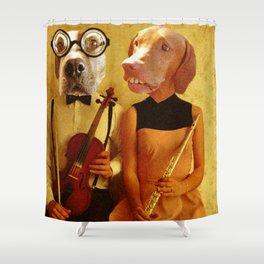 Music Hounds Shower Curtain