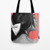 pocahontas Tote Bags featuring Pocahontas by kevinci