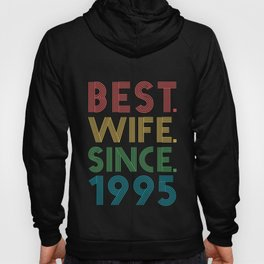 Best. Wife. Since. 1995 24th Wedding Anniversary for Her Hoody