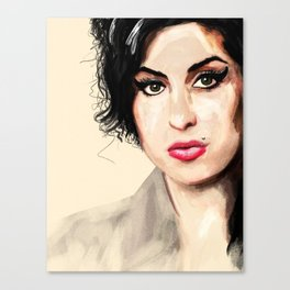 Amy - A tribute to Miss Winehouse Canvas Print