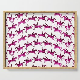 Showjumping Horse Sequence (Magenta) Serving Tray