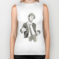 tom waits Biker Tanks featuring Tom Waits: The Early Years by Andy Christofi