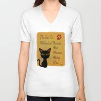 whimsical V-neck T-shirts featuring Whimsical  by BATKEI (Keiko W)