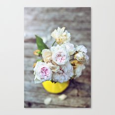 The Last Days of Spring - Old Roses I Canvas Print