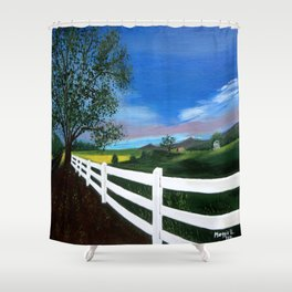 Early sunset Shower Curtain