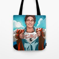 teen wolf Tote Bags featuring teen wolf by betp