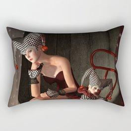 Clowns backstage Rectangular Pillow