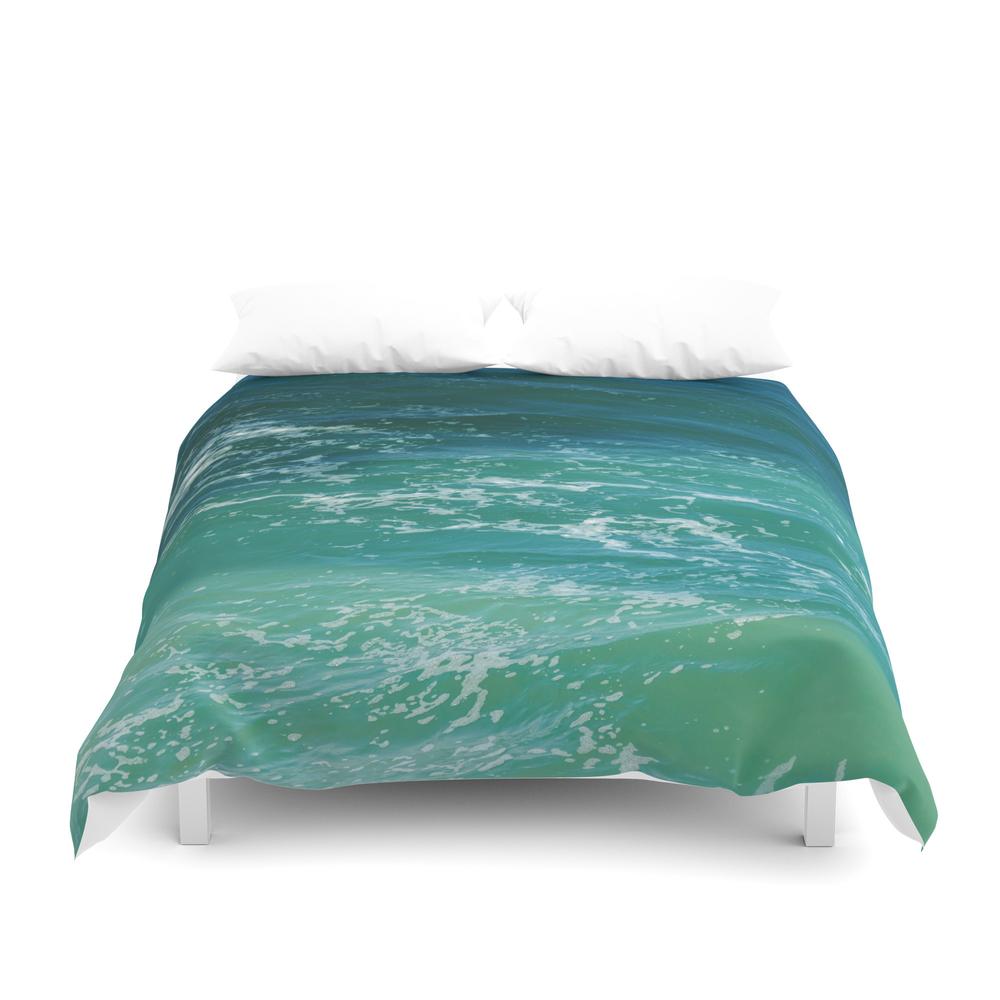Miami Beach Cabanas And Parasols Duvet Cover by ellensmile (DUV6129624) photo