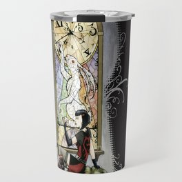 """""""You're Running out of time, my dear."""" - Twisted Wonderland Travel Mug"""