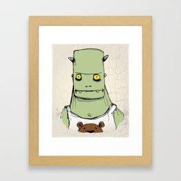 Monster & Teddy Framed Art Print