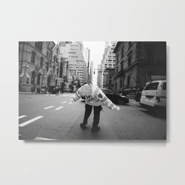 NYPD mid-day stretch Metal Print