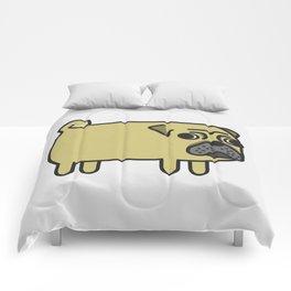 1# I like big pugs Comforters