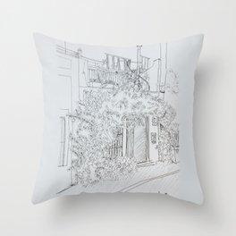 a house in old san juan Throw Pillow