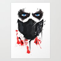 bucky barnes Art Prints featuring Bucky Barnes by akaori_art