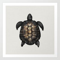 tortoise Art Prints featuring Tortoise by Espen Terjesen