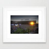 ferris bueller Framed Art Prints featuring Ferris Bueller at Wrigley Field by Rick Cohen