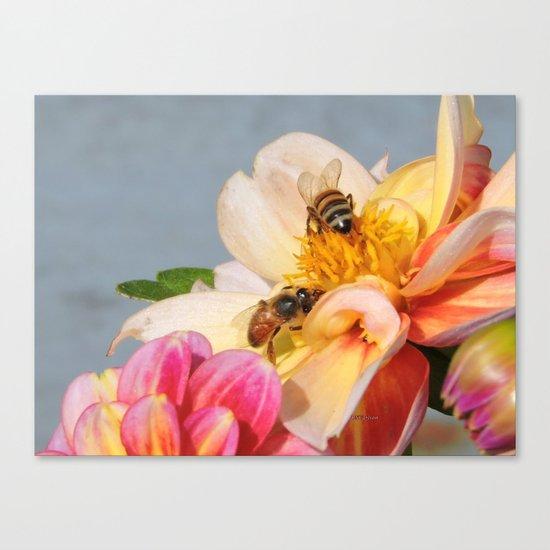 Honeybees at Work Canvas Print