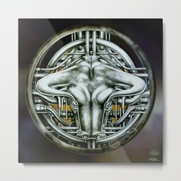 """Astrological Mechanism - Taurus"" Metal Print"