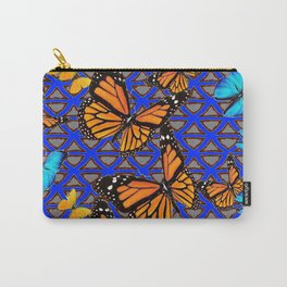 MODERN BUTTERFLY BLUE ABSTRACT WORLD Carry-All Pouch