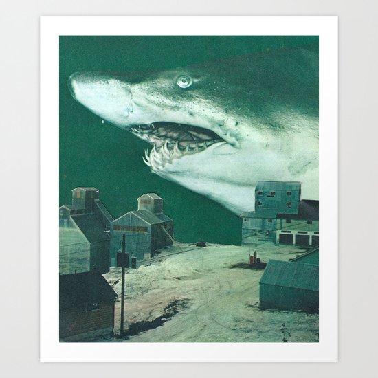 La notte degli squali volanti Art Print