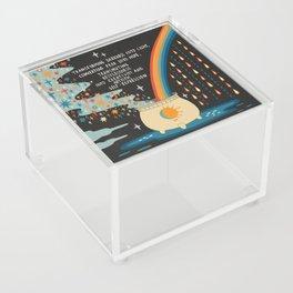 Transforming darkness into light Acrylic Box
