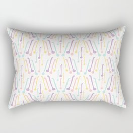 Tea Spoons Vector Cutlery Pattern Pastel Colors Rectangular Pillow