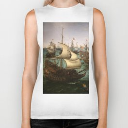 "Hendrick Cornelisz Vroom ""The meeting of Frederic V and Elizabeth Stuart on the sea"" Biker Tank"
