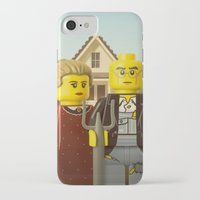 american iPhone & iPod Cases featuring American Gothic by powerpig