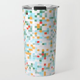 handmade coloured squares Travel Mug