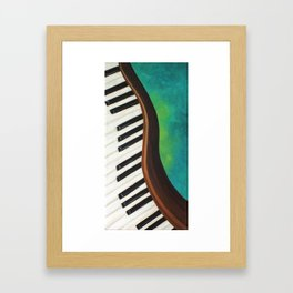 Dancing Piano on Teal Framed Art Print