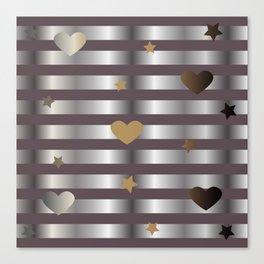 Shine Silver Canvas Print