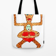 the bull is not seated Tote Bag