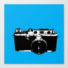 Leica in Blue Canvas Print