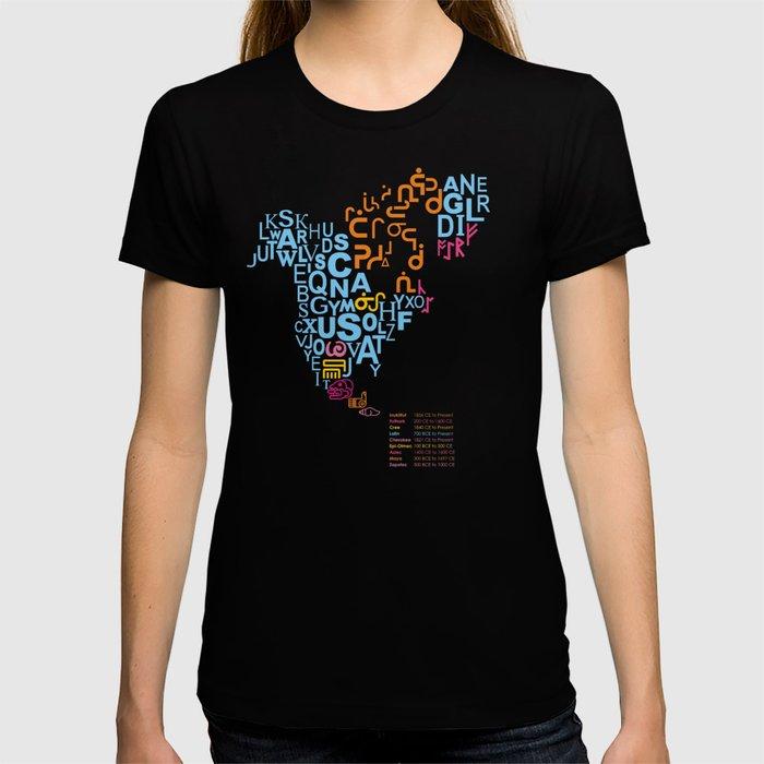 North America ~ Writing Sistems T-shirt