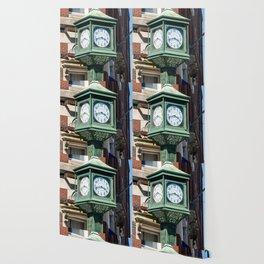 Antique Street Clock Wallpaper