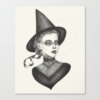 witchcraft Canvas Prints featuring Witchcraft by Caitlin McCarthy
