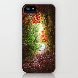 Autumn Tunnel iPhone Case