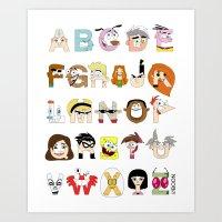 Child of the 00s Alphabet Art Print