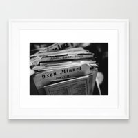records Framed Art Prints featuring Records  by Tysha Hallman