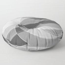 Spacial Orbiting Spiral in Charcoal Gray Floor Pillow