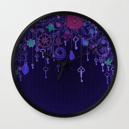 Garden Keys Wall Clock