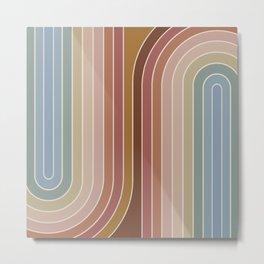 Gradient Curvature IX Metal Print