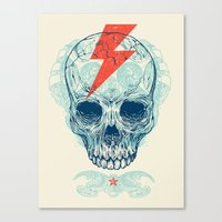 comic Canvas Prints featuring Skull Bolt by Rachel Caldwell
