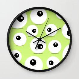 Eyeballs for Halloween Wall Clock