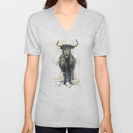 Black bull. Unisex V-Neck